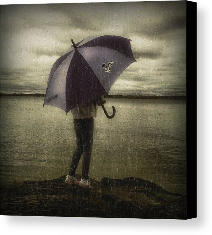 Lake Canvas Print featuring the photograph Rain Day 2 by Heather Rivet