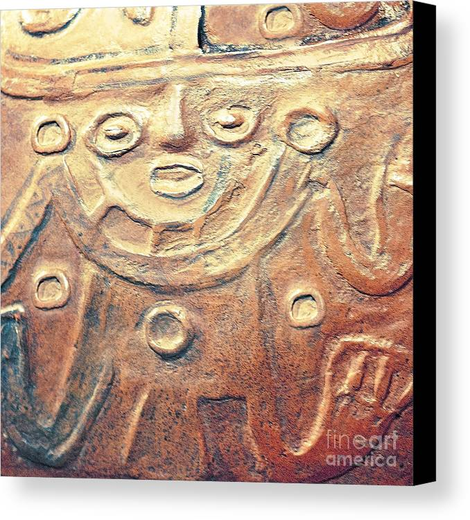 Creative Photography Pictures Canvas Print featuring the photograph Relief Art In Earthtones by Artist and Photographer Laura Wrede