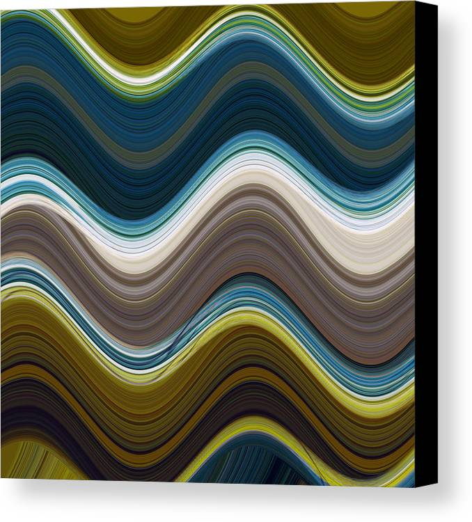 Abstract Art Canvas Print featuring the mixed media Sonic Speed by Ricki Mountain