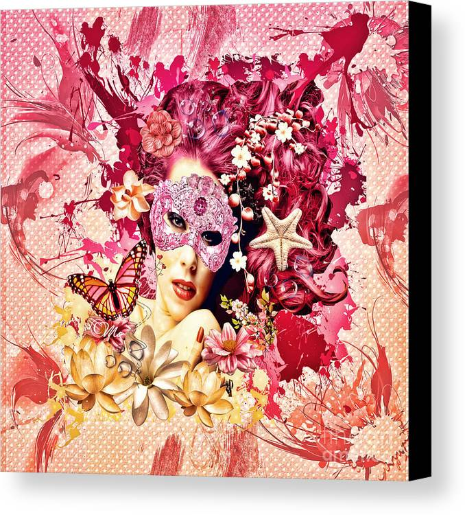 Summer Canvas Print featuring the digital art Summer by Mo T