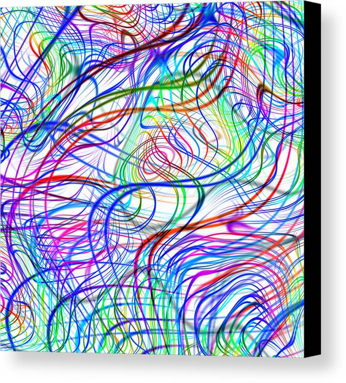 Quantum Mechanics Canvas Print featuring the photograph Superstrings, Conceptual Artwork by Mehau Kulyk