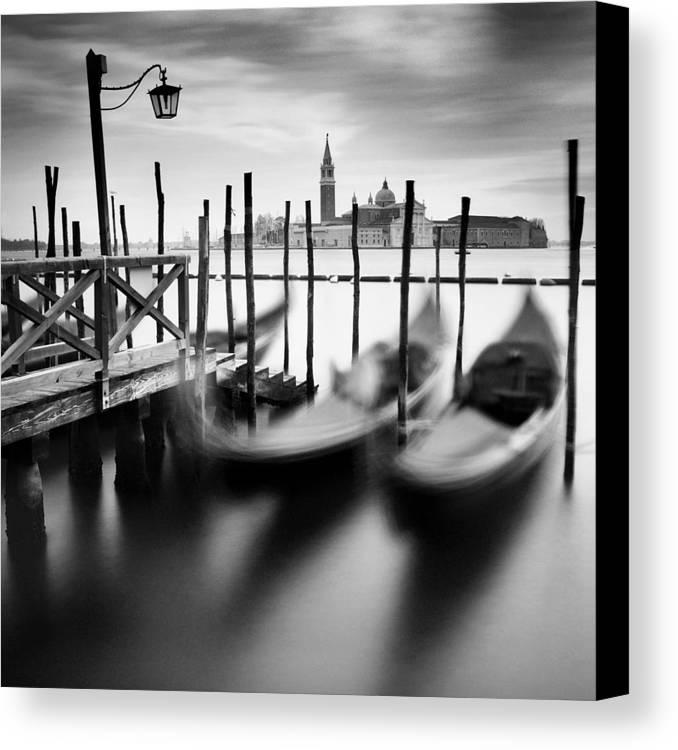 Venice Canvas Print featuring the photograph Venice Gondolas by Nina Papiorek