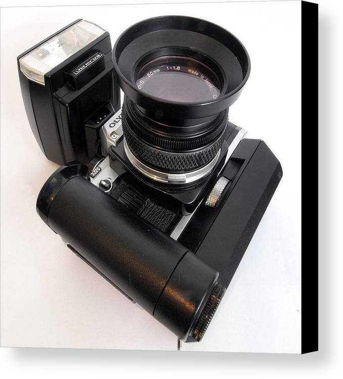 Olmpus Canvas Print featuring the photograph Vintage Olympus by Christopher Mercer
