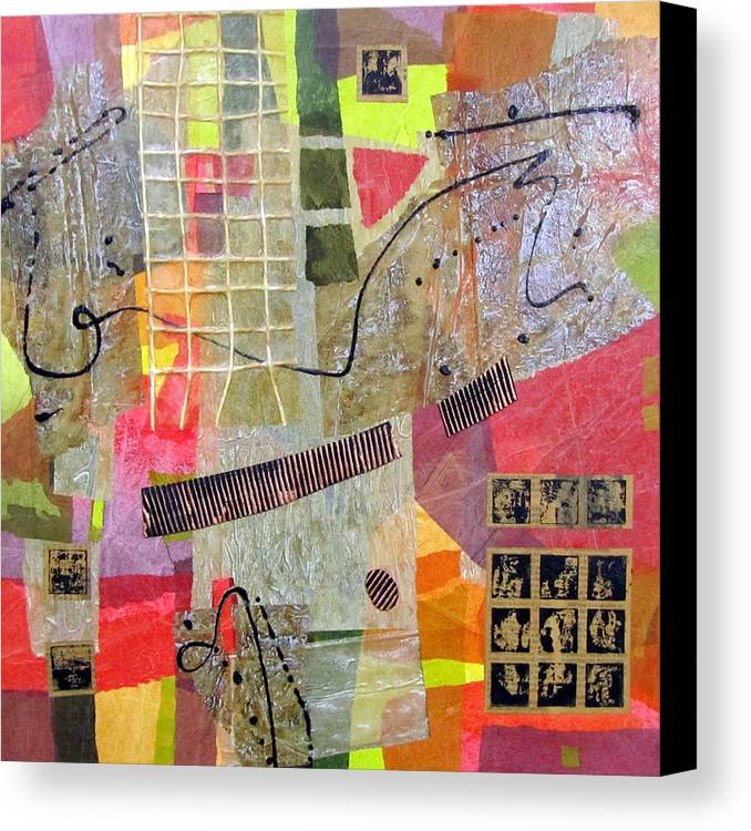 Mixed Media Canvas Print featuring the painting Windows Of Opportunity by Heather Assaf