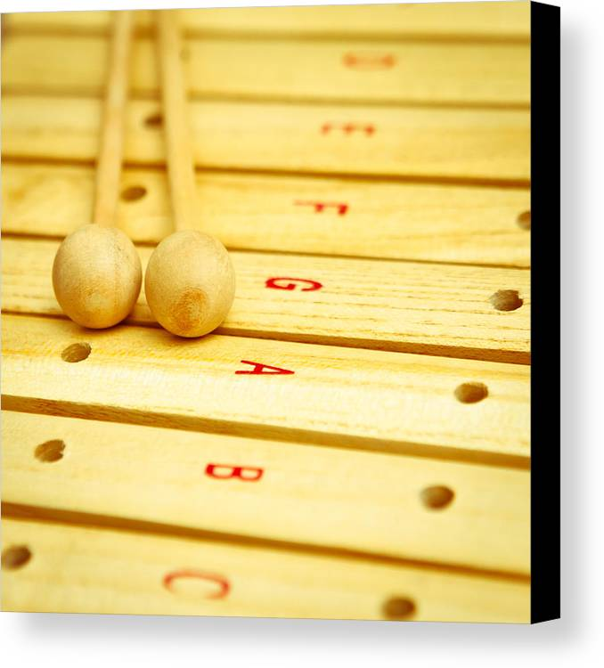 Beaters Canvas Print featuring the photograph Xylophone by Tom Gowanlock