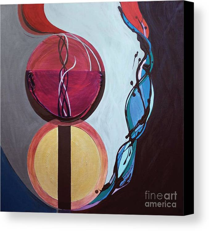 Temple Canvas Print featuring the painting Havdallah...separation by Marlene Burns