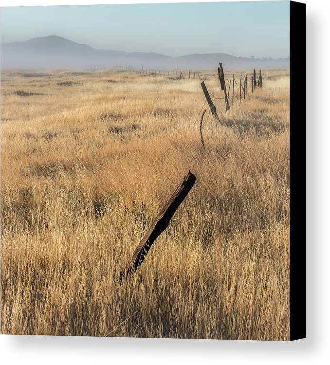 Cuyamaca Canvas Print featuring the photograph Cuyamaca Fenceline by Joseph Smith