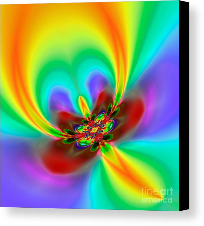 Abstract Canvas Print featuring the digital art Flexibility 49f1 by Rolf Bertram
