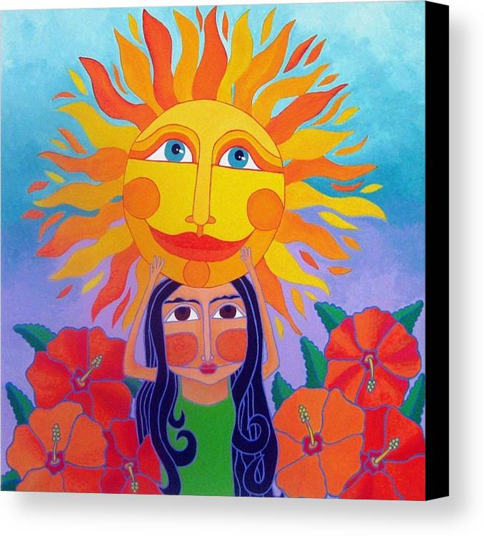 Girl Canvas Print featuring the painting Verano Amor by Robin Westenhiser