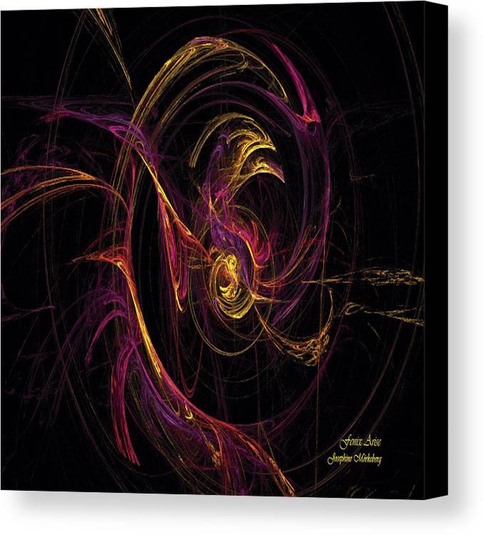 Fenix Canvas Print featuring the digital art Fenix Arise by Josephine Morkeberg