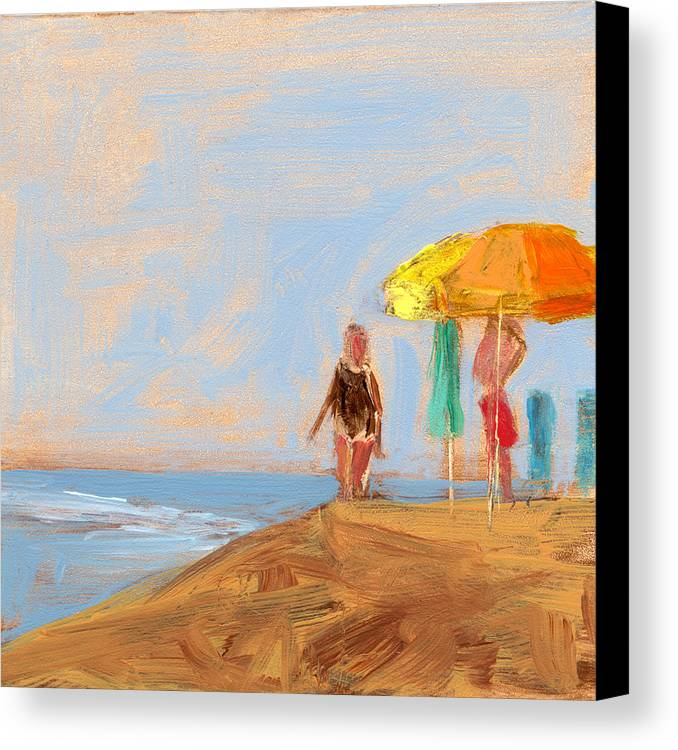 Beach Canvas Print featuring the painting Rcnpaintings.com by Chris N Rohrbach