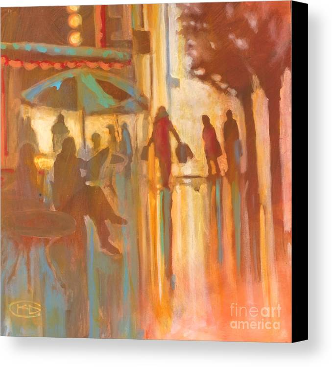 Shopping Canvas Print featuring the painting A New Dress by Kip Decker