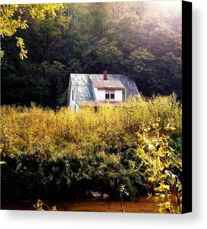 Farm Canvas Print featuring the photograph Abandoned Farm Home by George Ferrell