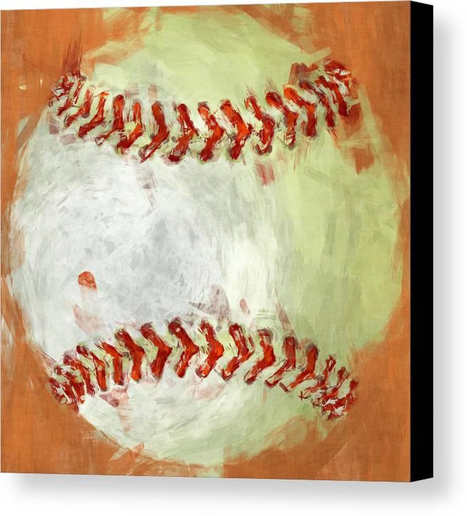 Baseball Canvas Print featuring the photograph Abstract Baseball by David G Paul