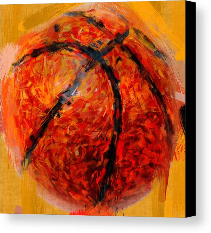 Basketball Canvas Print featuring the photograph Abstract Basketball by David G Paul