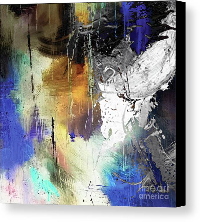 Abstract Canvas Print featuring the painting Abstract Dance by Sadegh Aref