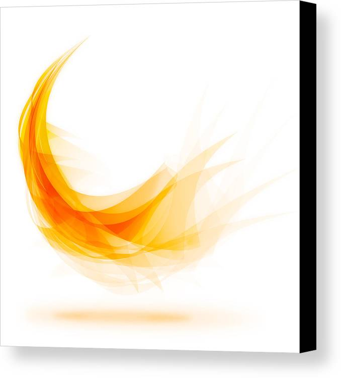 Abstract Canvas Print featuring the painting Abstract Feather by Setsiri Silapasuwanchai
