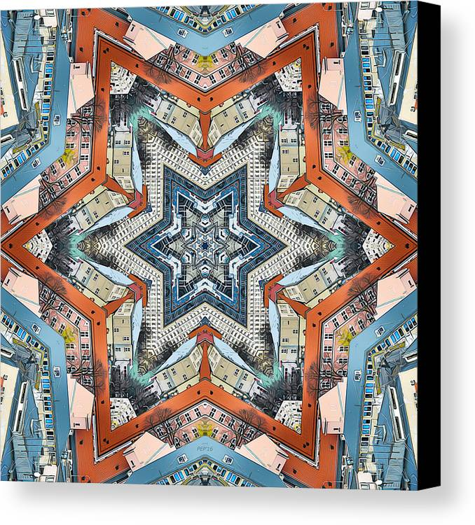 Buildings Canvas Print featuring the photograph Abstract Geometric Structures by Phil Perkins