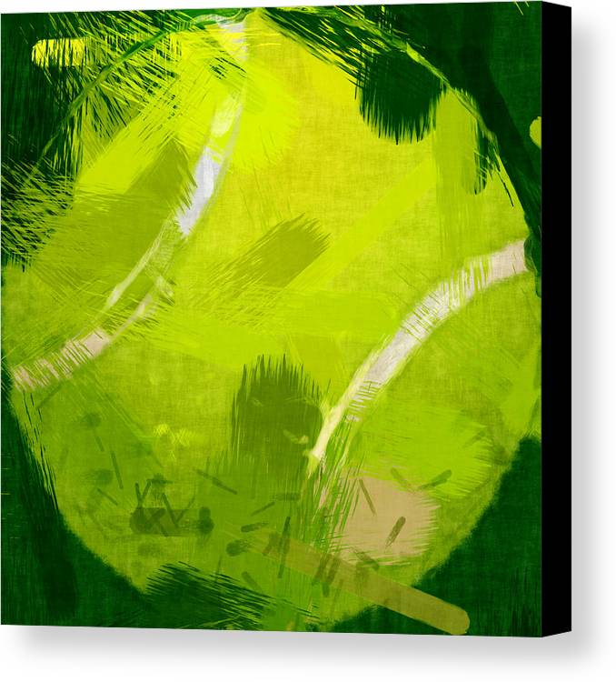 Tennis Canvas Print featuring the photograph Abstract Tennis Ball by David G Paul