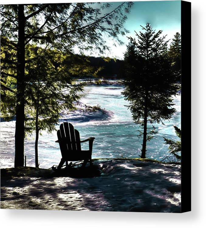 Adirondack Silhouette Canvas Print featuring the photograph Adirondack Silhouette by David Patterson