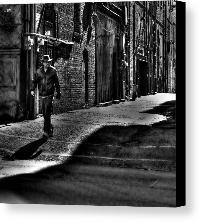 Pioneer Square Canvas Print featuring the photograph Alley Stroll by David Patterson