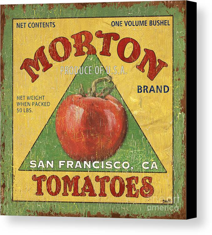 Tomatoes Canvas Print featuring the painting American Veggies 2 by Debbie DeWitt