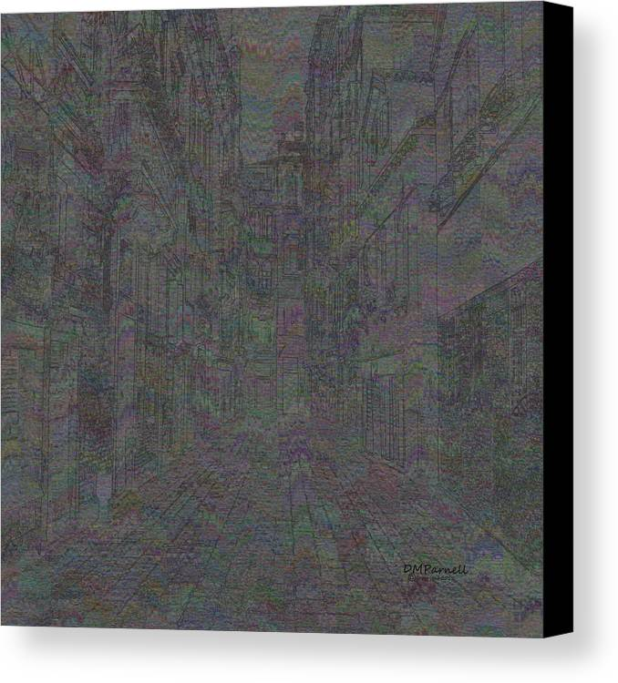 Abstract Canvas Print featuring the digital art Ancient City by Diane Parnell