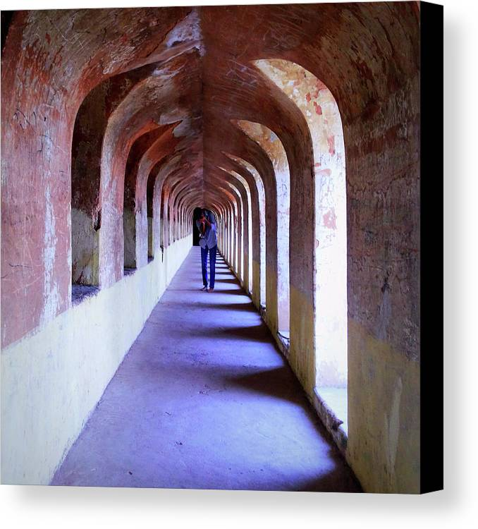 City Canvas Print featuring the photograph Ancient Gallery At Bada Imambara by Atullya N Srivastava