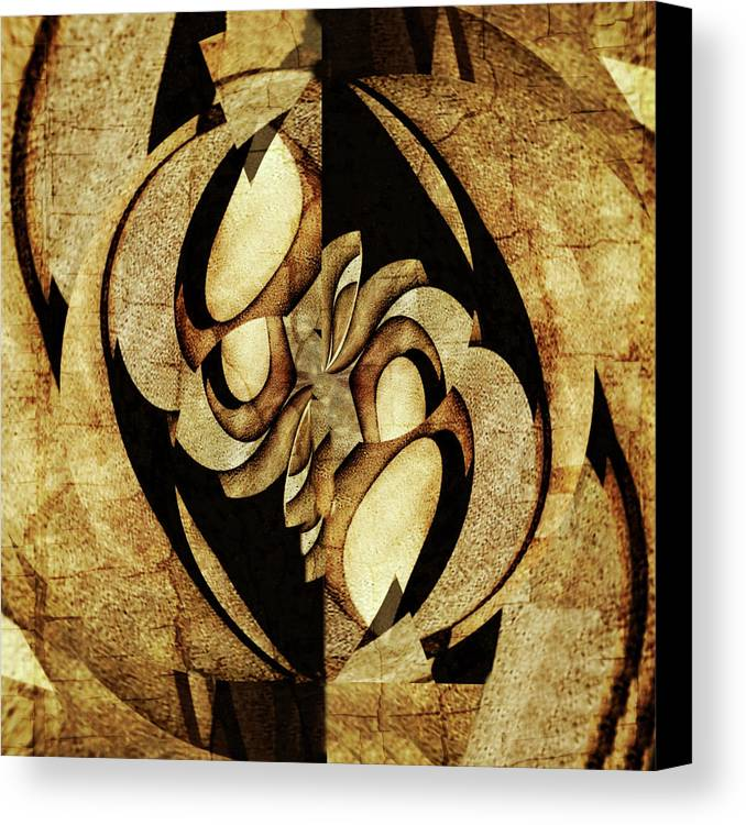 Ancient Canvas Print featuring the painting Ancient Symbols by Barry King