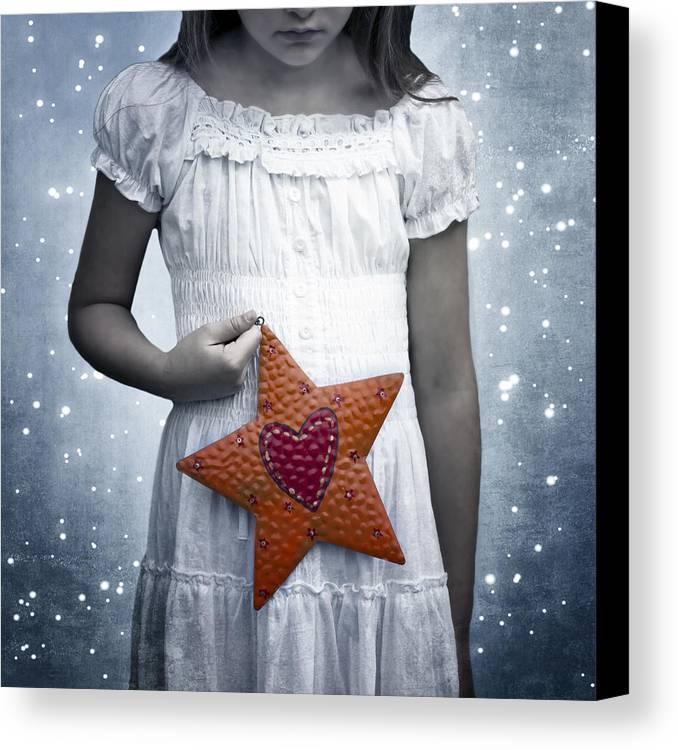 Girl Canvas Print featuring the photograph Angel With A Star by Joana Kruse
