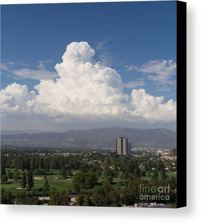 Angeles National Park Canvas Print featuring the photograph Angeles National Park And Lakeside Golf Club In Southern California Dsc3585sq by Wingsdomain Art and Photography