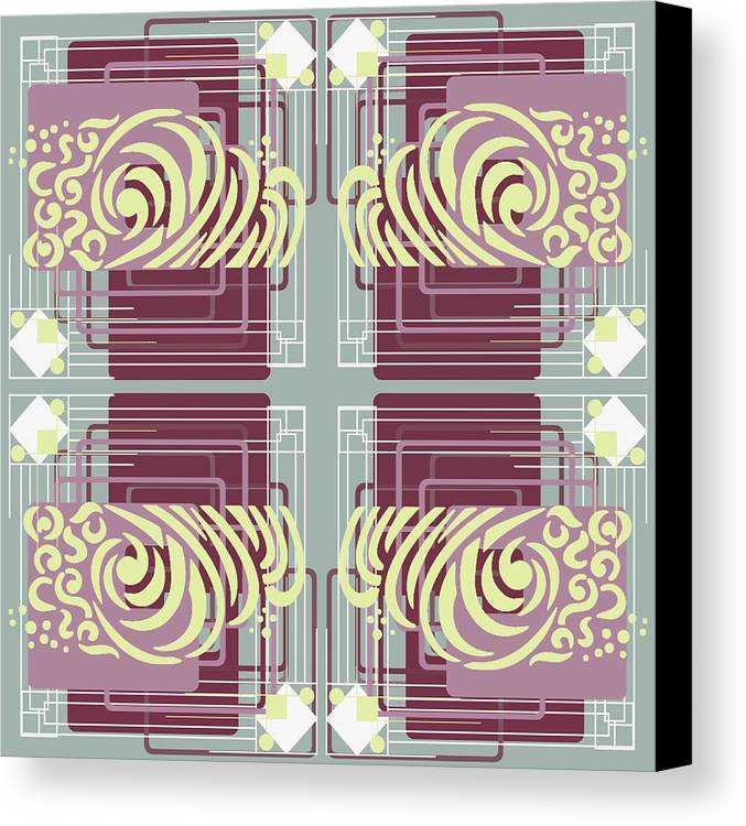 Digital Canvas Print featuring the digital art Art Deco by Suzanne Carter