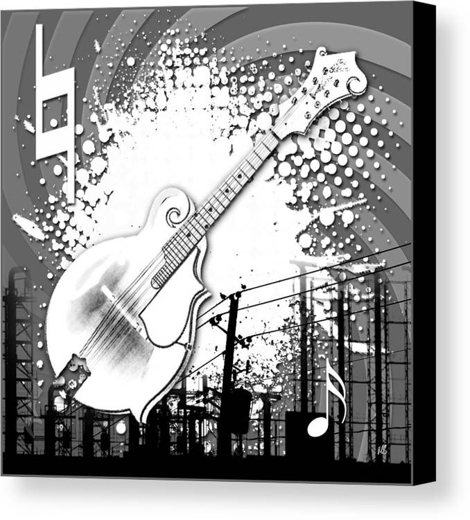 Abstract Canvas Print featuring the digital art Audio Graphics 4 by Melissa Smith
