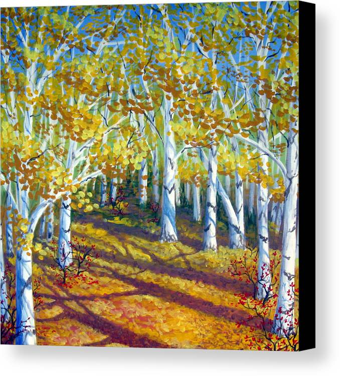 Autumn Canvas Print featuring the painting Autumn Light by Sharon Marcella Marston