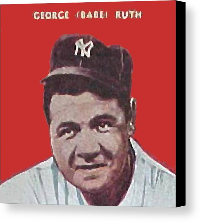 Babe Ruth Canvas Print featuring the painting Babe Ruth by Paul Van Scott