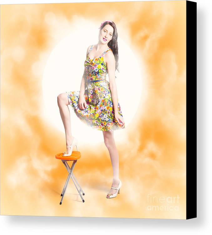 Backlit Pin-up Beauty Canvas Print / Canvas Art by Jorgo Photography ...