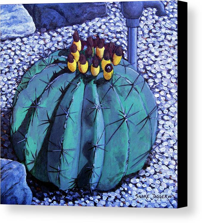 Nature Canvas Print featuring the painting Barrel Buds by Snake Jagger