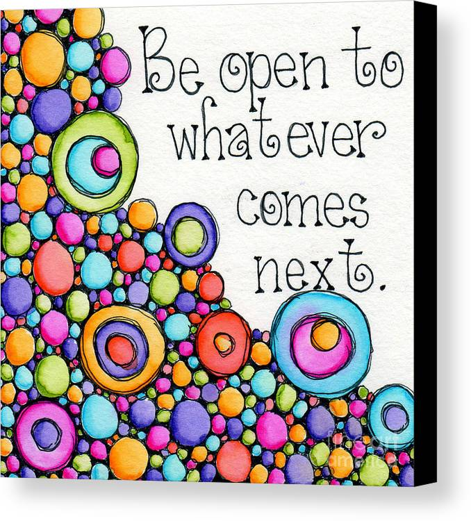 Circles Canvas Print featuring the digital art Be Open by Debi Payne