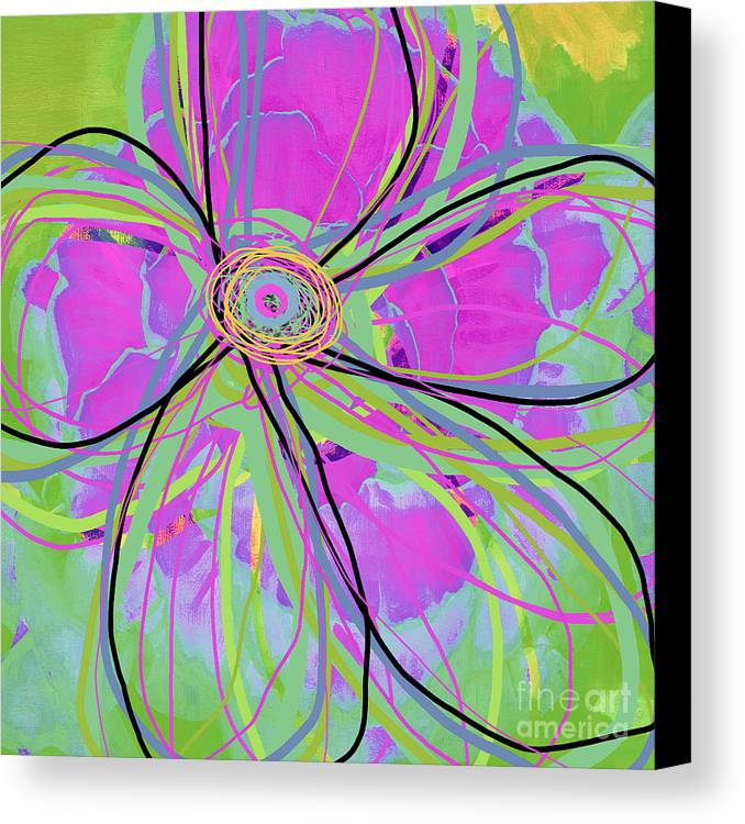 Floral Canvas Print featuring the digital art Big Pop Floral IIi by Ricki Mountain