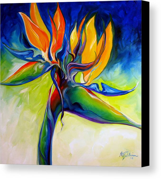 Bird Canvas Print featuring the painting Bird Of Paradise 24 by Marcia Baldwin