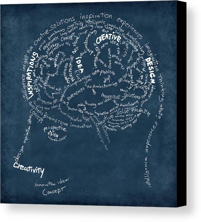 Anatomy Canvas Print featuring the photograph Brain Drawing On Chalkboard by Setsiri Silapasuwanchai
