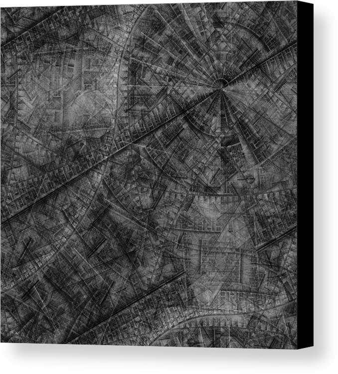 Abstract Canvas Print featuring the digital art Brass Rubbing A Dream by Ian Duncan Anderson