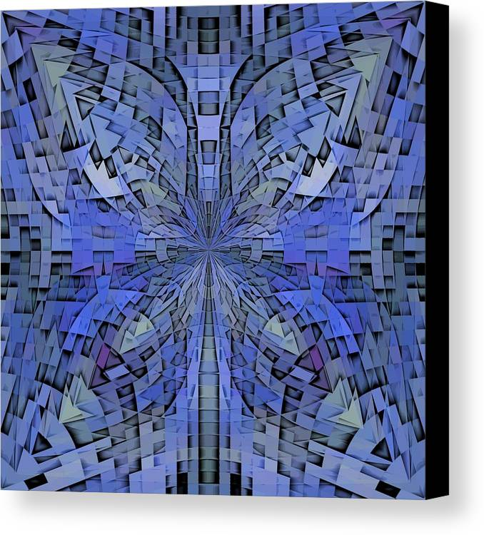 Abstract Canvas Print featuring the digital art Can You Hear Me Now by Tim Allen