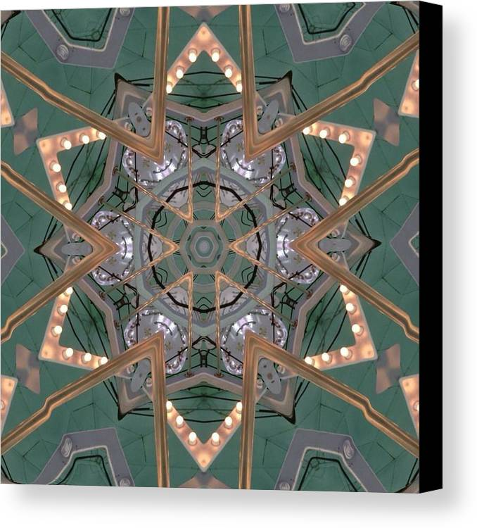 Kaleidoscope Canvas Print featuring the photograph Carousel Kaleidoscope by Pamela Picassito
