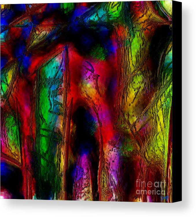 Abstract Canvas Print featuring the painting Caverns Of The Mind by Dee Flouton