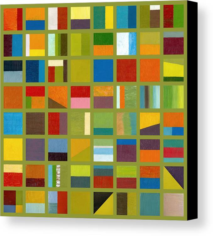 Abstract Canvas Print featuring the painting Color Study Collage 64 by Michelle Calkins