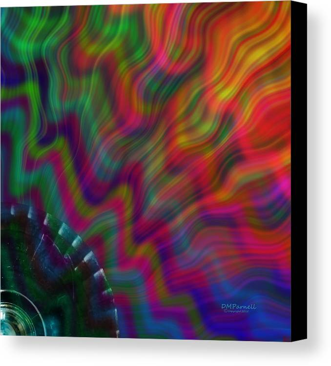 Abstract Canvas Print featuring the digital art Color Waves by Diane Parnell