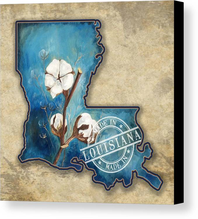 Cotton Canvas Print featuring the painting Cotton_made In La by Stacey Blanchard