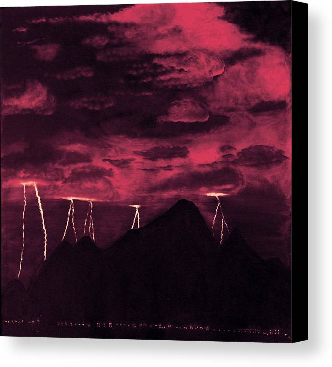Painting Canvas Print featuring the painting Crimson Storm by Dawn Hay