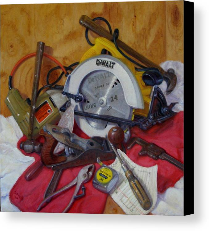 Realism Canvas Print featuring the painting D. I. Y. 2  by Donelli DiMaria